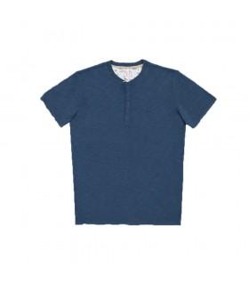 T-Shirt Uomo Sun 68 Serafino Colori Avion e Cenere - T19111