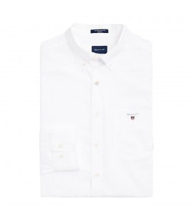 Camicia Uomo Gant Regular in Broadcloth Colori Bianco e Celeste - 3046400