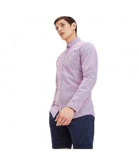 Camicia Uomo Tommy Hilfiger Colori Fucsia Purple Multi e Green/ Multi - DM0DM05987