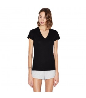 T- Shirt Donna Armani Exchange Con Scollo a V Colore Nero - 8NYTDHYJ16Z1200
