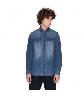 Camicia Jeans Uomo Armani Exchange Colore Denim - 3HZC21Z1K9Z1500