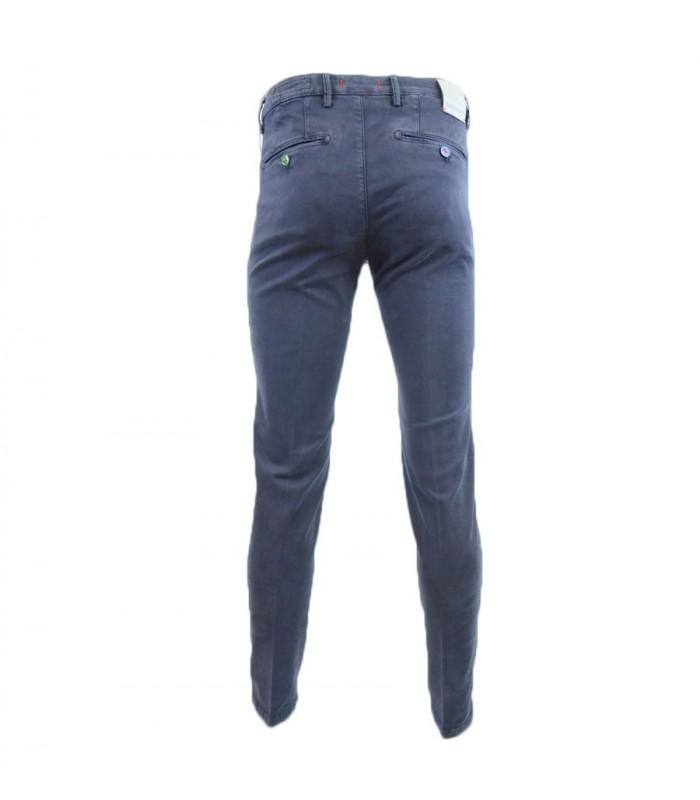 Pantaloni Uomo Baronio Grigio e Blu - W1780-CHINO